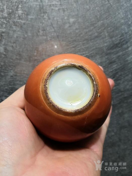 同治细路,珊瑚红兰纹灯笼罐。