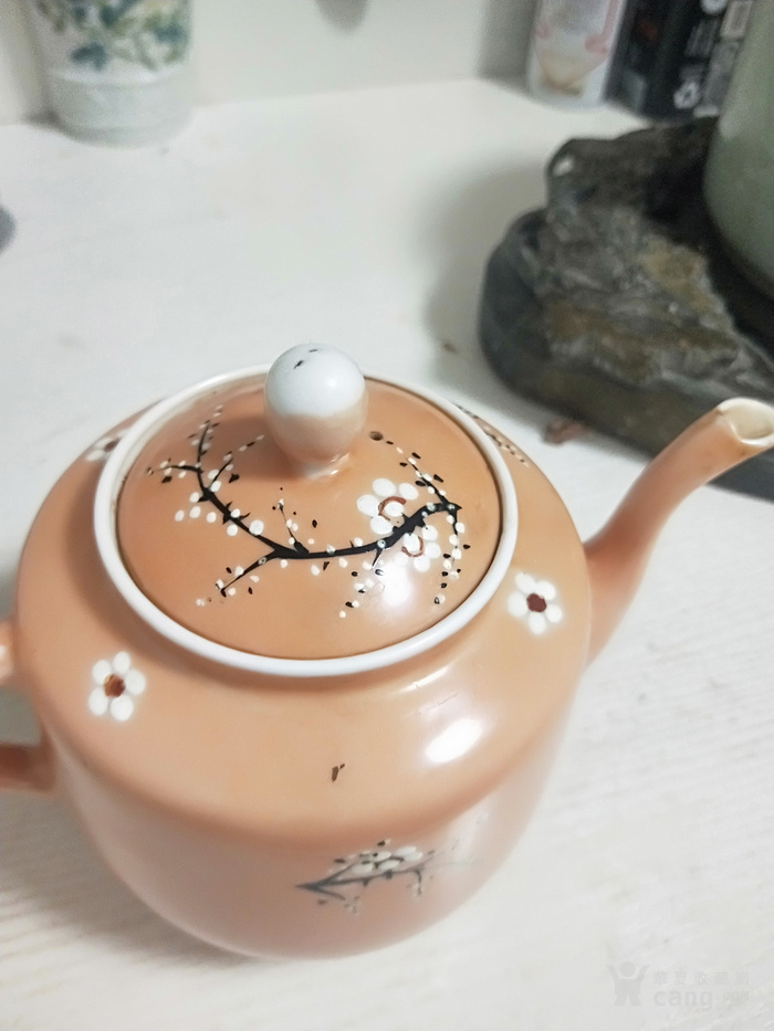 民国喜上眉梢茶壶茶盘一套