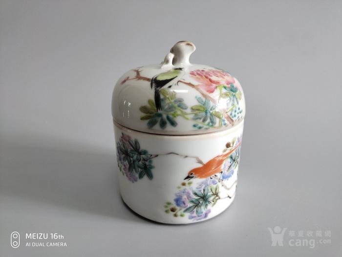 御窑厂画师许瑶阶花鸟温酒器