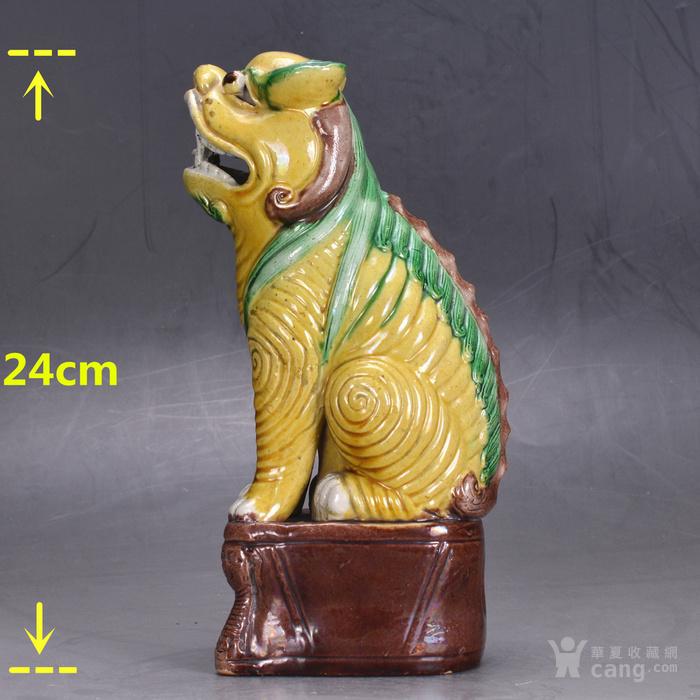 清中 素三彩 狮子图2