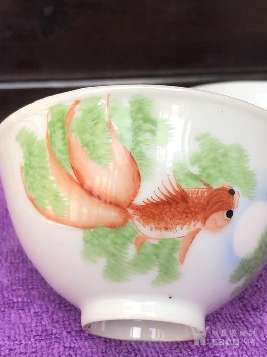江西瓷业公司,月影鱼藻纹茶碗一双。