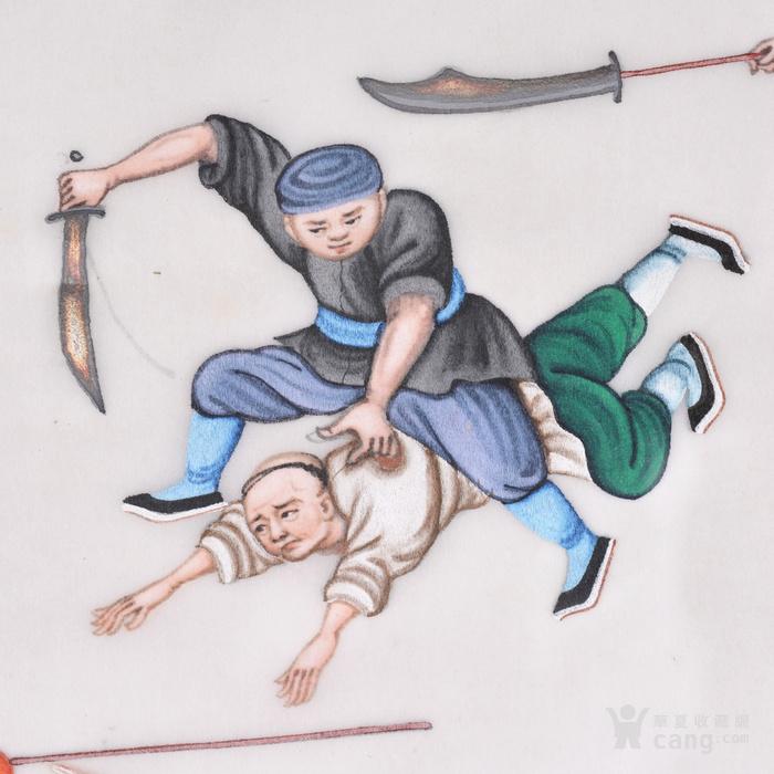 晚清 士兵图 通草画图4
