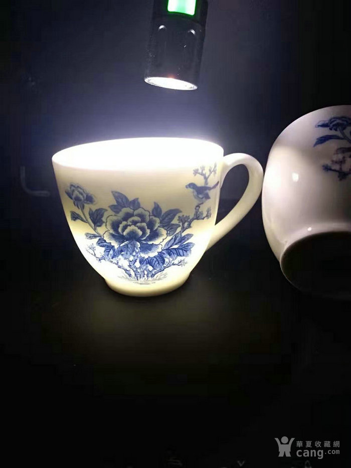 特价包邮:一对九十年代醴陵釉下五彩瓷鸟语花香茶杯