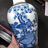 几十年的青花花鸟瓶