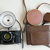 德国老皮腔相机牛皮套等一大套370贱卖了
